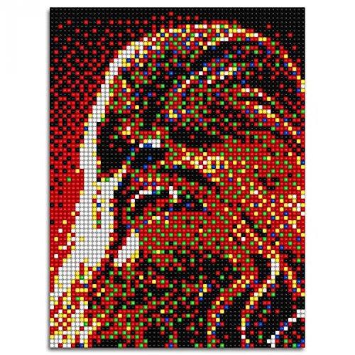 Pixel Art Dark Vador Facile
