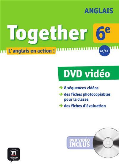 Together anglais 6e dvd + livret pedagogique
