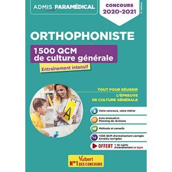 a5d640629f7 Concours Orthophoniste 1500 QCM de culture générale