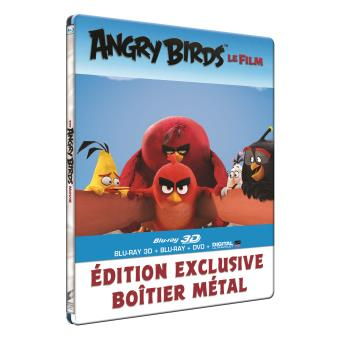 Angry BirdsAngry Birds Le film Steelbook Combo Blu-ray 3D + 2D