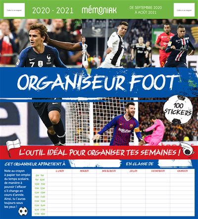 Organiseur Mémoniak Foot 2020-2021