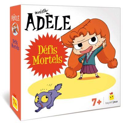 Jeu Mortelle Adèle - Défis mortels - Avec 60 cartes, 18 jetons et 1 sablier de Diane Le Feyer