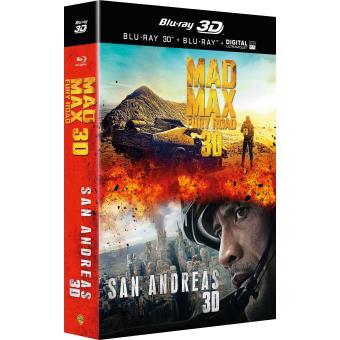 Mad MaxCoffret San Andreas + Mad Max Fury Road Blu-ray 3D