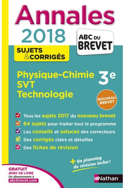 Annales ABC du Brevet Physique-chimie SVT Technologie 3ème