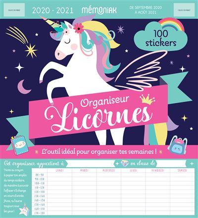 Organiseur Mémoniak Licornes 2020-2021