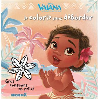 VaianaJe colorie sans déborder Vaiana bébé