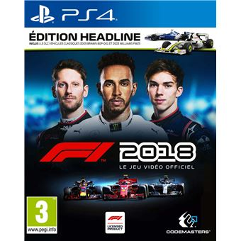 f1 2018 dition headline ps4 jeux vid o achat prix. Black Bedroom Furniture Sets. Home Design Ideas