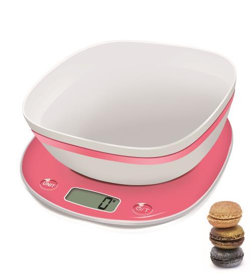 Balance de Cuisine électronique Terraillon Macaron Fraise + Bol