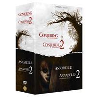 Coffret Annabelle 1 et 2 Conjuring 1 et 2 DVD