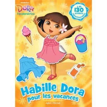 Dora l 39 exploratrice livre avec stickers habille dora - Dora a la plage ...