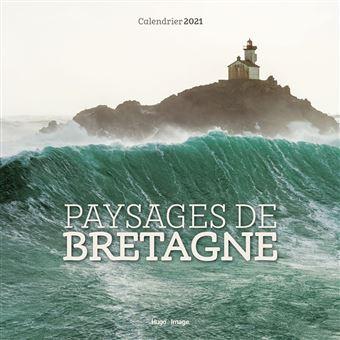 Calendrier mural Paysages de Bretagne 2021   broché   Collectif