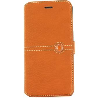 Etui Folio Faconnable pour iPhone 7 Orange