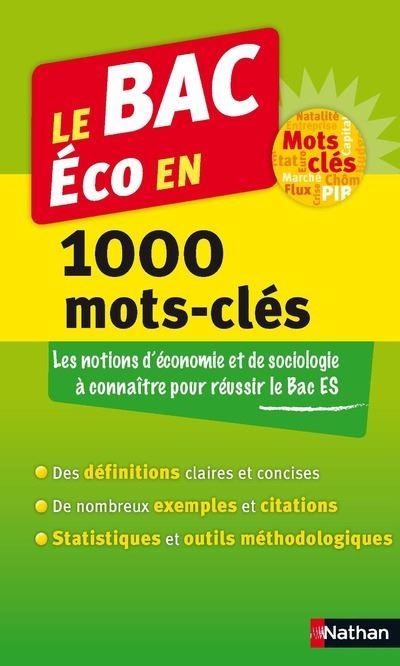 Le BAC Eco en 1000 mots-clès