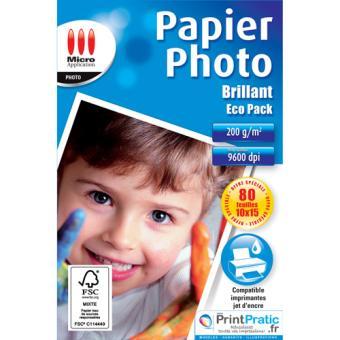 Papier imprimante Micro Application Papier Photo Eco Pack - Brillant
