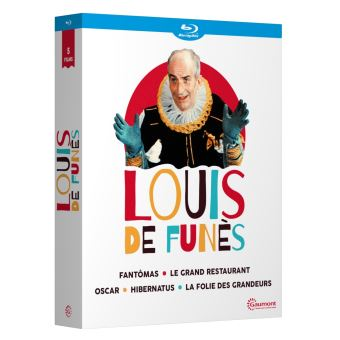 Coffret Louis de Funès 5 Films Blu-ray