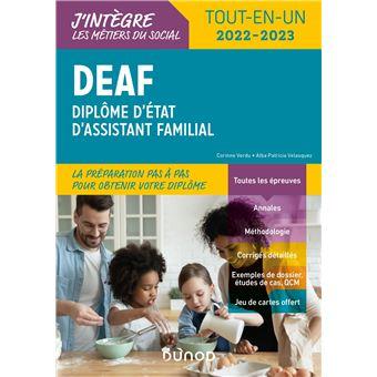 DEAF 2018-2019 Tout-en-un Diplôme d'État d'assistant familial