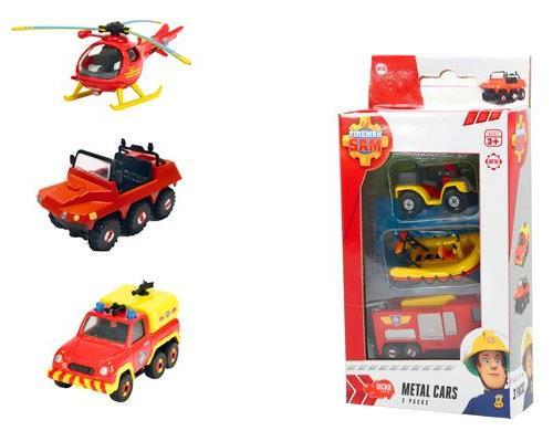 Set de 3 véhicules Sam le Pompier Smoby
