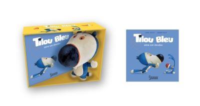 Tilou Bleu aime son doudou - Avec peluche