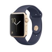 Apple Watch Series 1 38 mm Boîtier en Aluminium Or avec Bracelet Sport Bleu Nuit