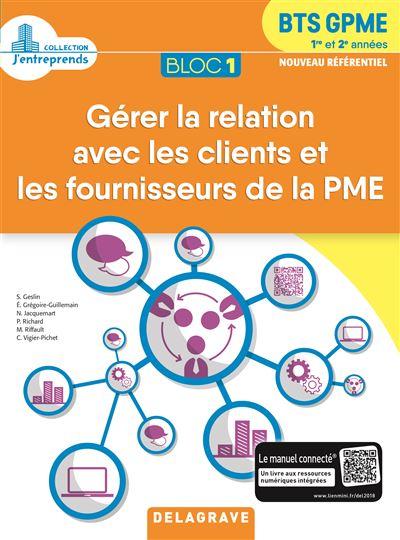 Bloc 1 Gérer la relation avec les clients et les fournisseurs de la PME