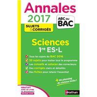 Annales Bac 2017 Sciences 1ère ES- L- Corrigé