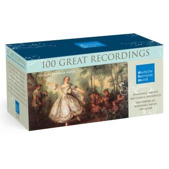 100 Great Recordings Coffret 100 CD Inclus un livret de 12 pages