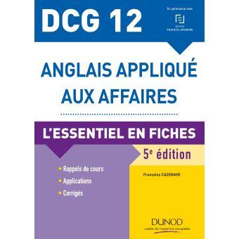 DCG 12 - Anglais appliqué aux affaires - 5e éd. - L'essentiel en fiches