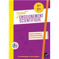 Enseignement scientifique 1re/Tle - Éd. 2020 - Carnet de l'élève