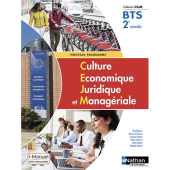 Culture Economique Juridique Et Manageriale Bts 2 Cejm Livre Licence Eleve 2019