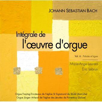 Js bach vol 6 integrale de l'œuvre d'orgue