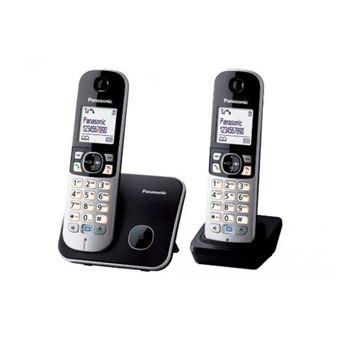 PANASONIC CORDLESS DECT PHONE DUO KX-TG6812BLB