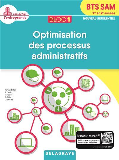 Bloc 1 Optimisation des processus administratifs BTS SAM 1ère et 2ème années