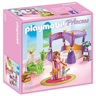 Playmobil Princess 6851 Chambre De La Reine Avec Lit à Baldaquin