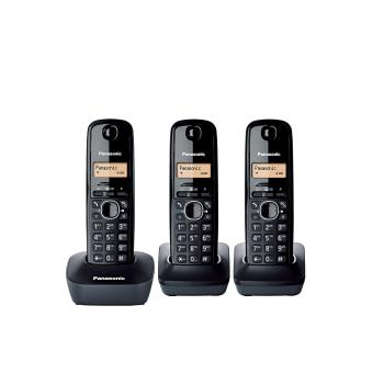 PANASONIC CORDLESS DECT PHONE TRIO KX-TG6813BLB