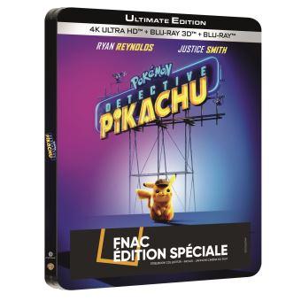 Les PokémonPokémon Détective Pikachu Steelbook Edition Spéciale Fnac Blu-ray 4K Ultra HD