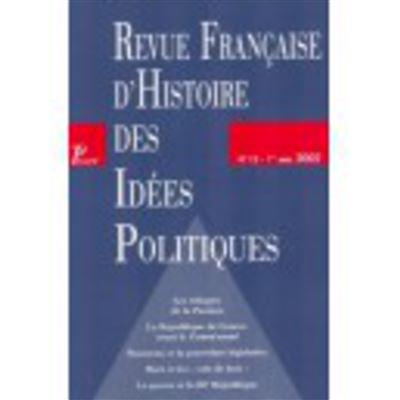 Revue française d'histoire des