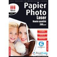 Micro Application Papier photo Laser A4 Brillant 200 g/m²