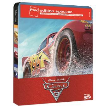 CarsCars 3 Steelbook Edition Spéciale Fnac  Blu-ray 3D
