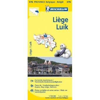 LIEGE 11376 LUIK CARTE PROV. BELG. MICHELIN KAART