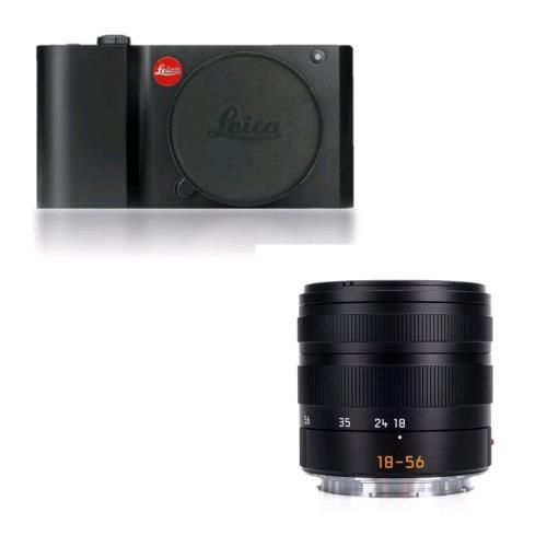 Leica T Camera System Noir Objectif hybride Leica Vario Elmar T 18 56 mm F35 56 Asph