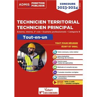 4198770e2e0 Concours Technicien territorial Technicien principal Catégorie B Tout-en-un  Externe