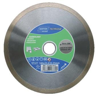 Disque diamant carrelage coupe l 39 eau norton carro 500 180 x 25 4 roue ou disque abrasif - Disque coupe carrelage 180 mm ...
