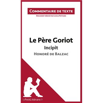 le pere goriot commentaire compose