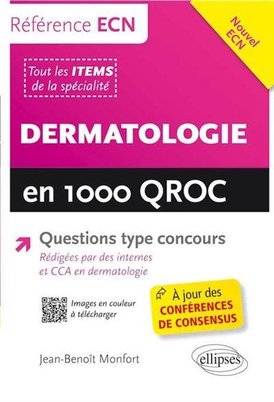 Dermatologie en 1000 QROC référence ECN