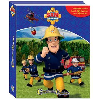 sam le pompier coffret avec 12 figurines et un tapis jeu mattel collectif bo te ou. Black Bedroom Furniture Sets. Home Design Ideas