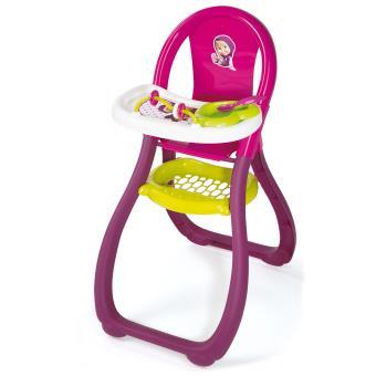 chaise haute pour poup e macha smoby rose accessoire poup e achat prix fnac. Black Bedroom Furniture Sets. Home Design Ideas