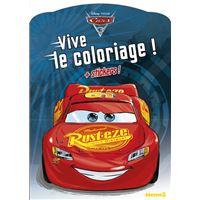 Cars 3 Vive le coloriage ! + stickers ! (Fond bleu)