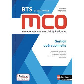 Gestion Operationnelle Bts 1ere Et 2eme Annees Mco Livre Licence Eleve 2019