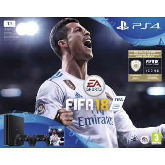 PS4 1TB + FIFA 18 +  EXTRA DUALSHOCK MIX