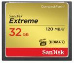 SNDI SandisK Carte Mémoire Extreme Compact Flash 32 Go 120 Mo...
